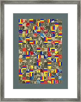 Time Order Chaos. 1984 Framed Print by Peter-hugo Mcclure