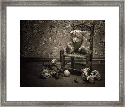Time Out - A Teddy Bear Still Life Framed Print by Tom Mc Nemar