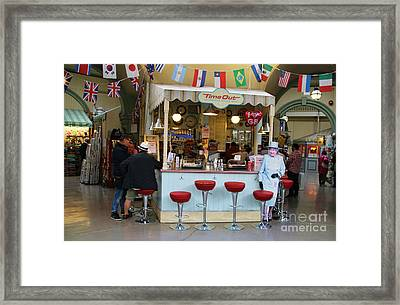 Time Out Snack Bar In Bath England Framed Print by Jack Schultz
