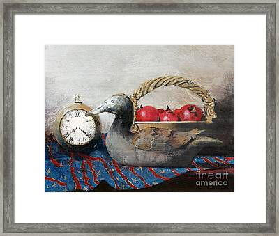 Time Passes Framed Print by Monte Toon
