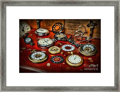 Time - Pocket Watches  Framed Print