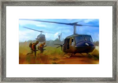 Time Sacrificed II Vietnam Veterans  Framed Print
