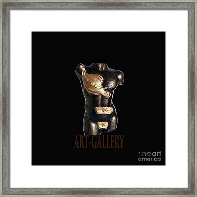 The Time Sculpture Surreal , M1 Framed Print by Johannes Murat