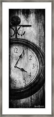 Time Framed Print by Sheena Pike