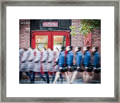 Time Slice In Motion Framed Print