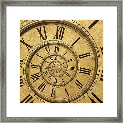 Time Spiral Framed Print