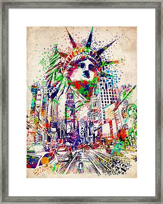 Times Square 3 Framed Print