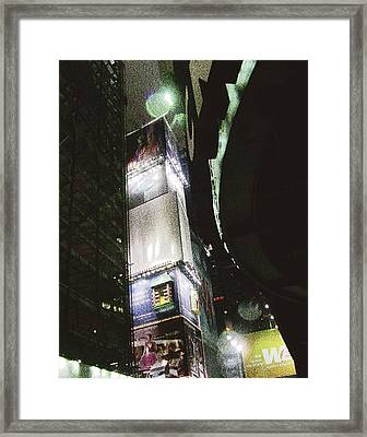 Time Square In Nyc Framed Print by Mieczyslaw Rudek