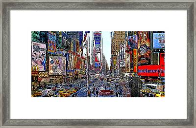 Time Square New York 20130430 Framed Print by Wingsdomain Art and Photography