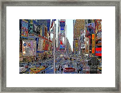 Time Square New York 20130503v5 Framed Print by Wingsdomain Art and Photography