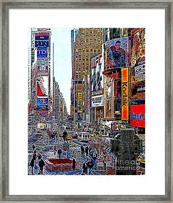 Time Square New York 20130503v7 Framed Print by Wingsdomain Art and Photography
