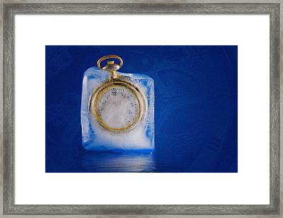 Time Stands Still Framed Print
