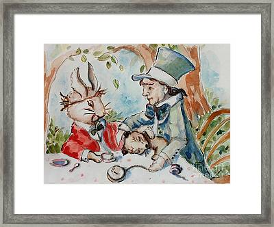 Time The Mad Tea Party 2 Framed Print