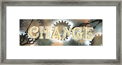 Time To Change Framed Print