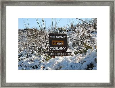 Framed Print featuring the photograph Time To Change The Sign by David S Reynolds