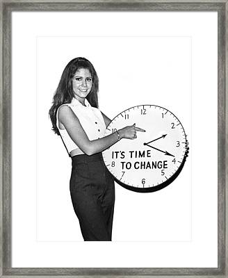 Time To Change Framed Print by Underwood Archives