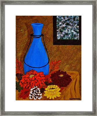 Time To Decorate Framed Print by Celeste Manning