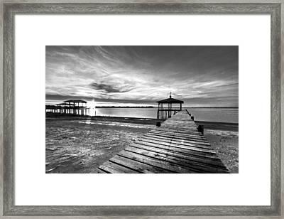 Time To Fish Framed Print by Debra and Dave Vanderlaan