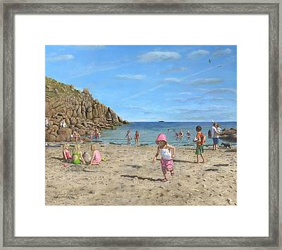 Time To Go Home - Porthgwarra Beach Cornwall Framed Print by Richard Harpum