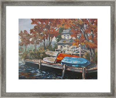 Framed Print featuring the painting Time To Go by Tony Caviston