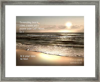 Time To Heal Framed Print by Jeffery Fagan