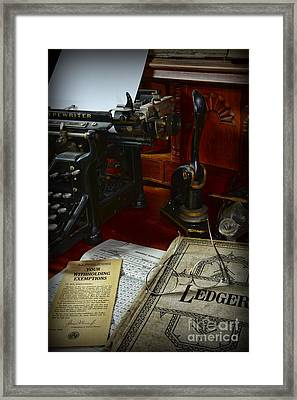 Time To Pay Your Taxes  Framed Print by Paul Ward