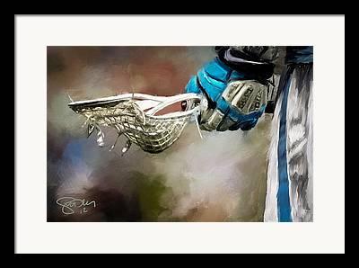 Lacrosse Art Framed Prints