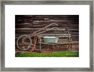 Time To Plow Framed Print by Marion Johnson