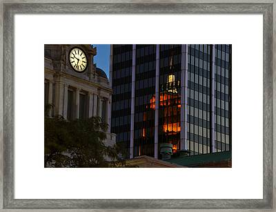 Time To Reflect Framed Print by Gene Sherrill