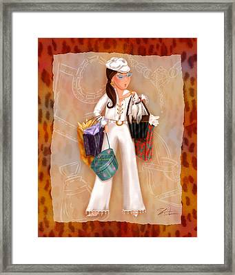 Time To Shop 3 Framed Print
