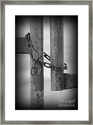 Time To Stop Framed Print by Clare Bevan