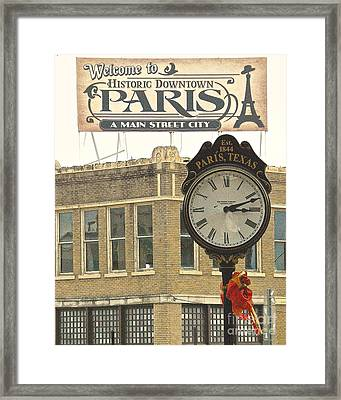 Time To Visit Paris Framed Print by Dee Dee  Whittle