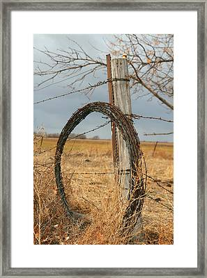 Time To Work Framed Print by Shirley Heier