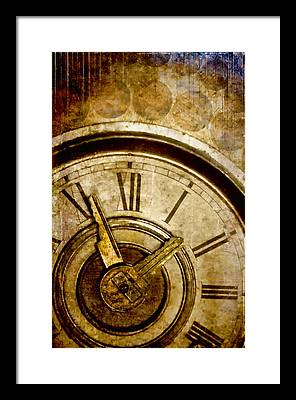 Clock Framed Prints