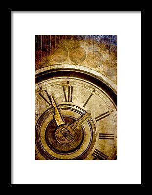 Clock Framed Prints