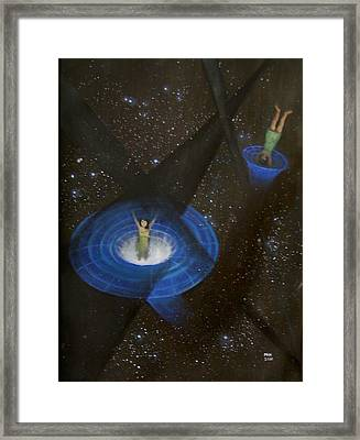 Time Travel Framed Print by Min Zou