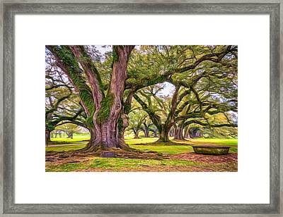 Time Travel - Paint Framed Print