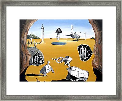 Framed Print featuring the painting Time Travel by Ryan Demaree