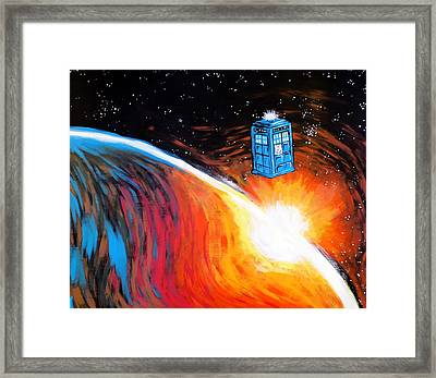 Time Travel Tardis Framed Print by Jera Sky