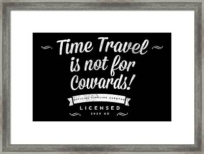 Time Travel Two Framed Print