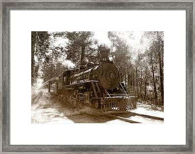 Time Traveler Framed Print by Donna Blackhall