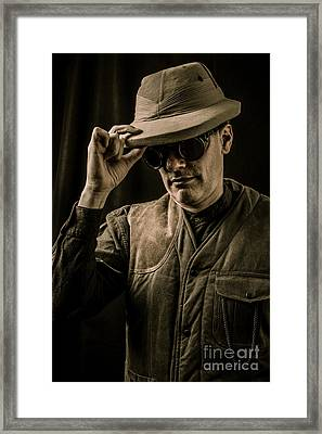 Time Traveler Framed Print by Edward Fielding