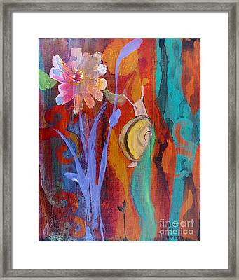 Framed Print featuring the painting Time Traveler by Robin Maria Pedrero