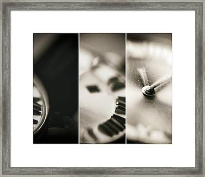 Time Tryptic Framed Print by Susan Stone