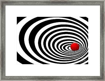 Time Tunnel Op Art Framed Print