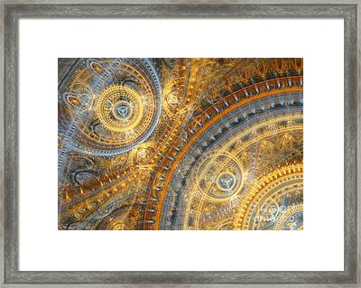 Time Vortex Framed Print by Martin Capek