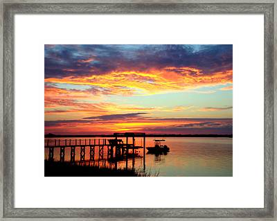 Time Waits For No One Framed Print by Karen Wiles