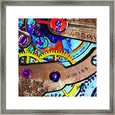 Time Waits For Nobody 20130605 Square Framed Print by Wingsdomain Art and Photography