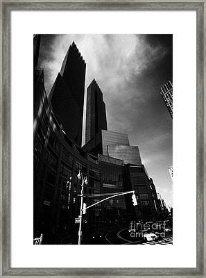 Time Warner Center On Columbus Circle New York City Framed Print by Joe Fox