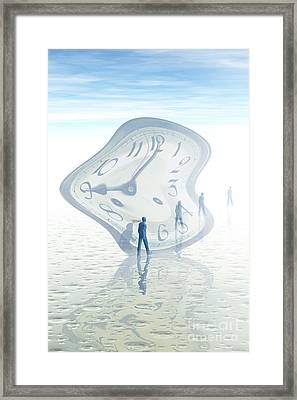 Time Warp, Conceptual Framed Print by Carol and Mike Werner